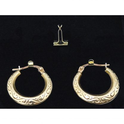 11719G_hoop_earring_body_jewellery_clip_9mm_gold