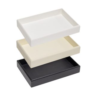 200GTOE_empty_gem_tray_stack_white_black_cream