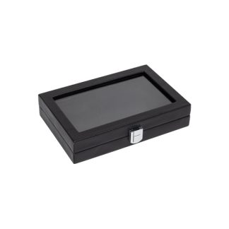 200GWOE_glass_top_leatherette_case_black