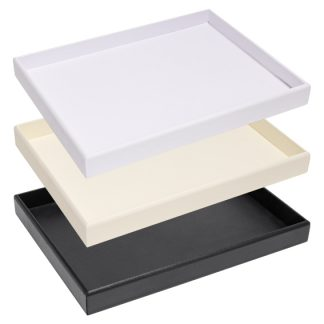 300_Series_leatherette_tray_stack_black_cream_white