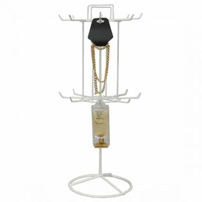 445_coated_wire_revolving_stand_16-prong_white