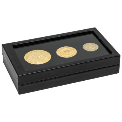 155W_large_rectangular_clear_lid_leatherette_coin_medal_display_case