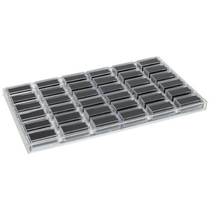 ACT436-B_clear_acrylic_tray_with_gemstone_boxes_black