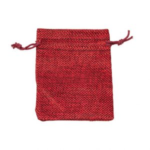 HP105 hessian-look drawstring pouches