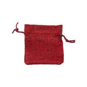 HP80 - hessian-look drawstring pouch - 70x80mm