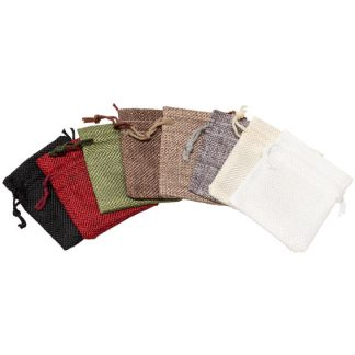 Hessian-Look Drawstring Pouch – 70 x 80mm
