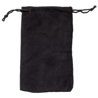 MP180-BK microfibre drawstring glasses pouch - black
