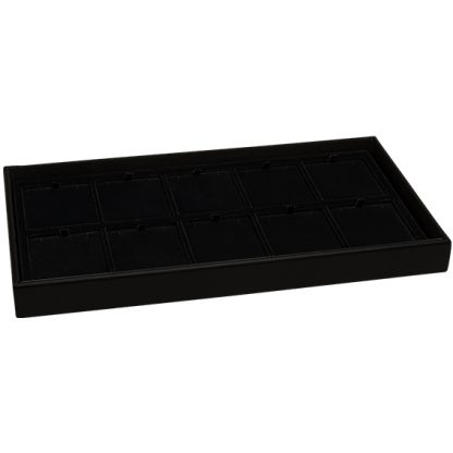 800 Series leatherette tray with filled flocked formed insert