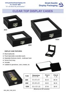 Clear Top Display Cases with Reversible Inserts